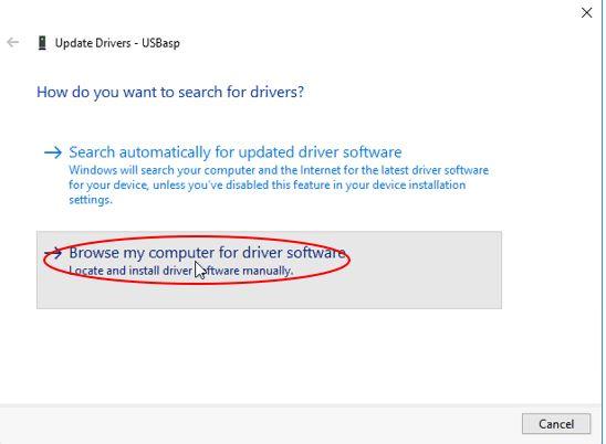 Instalasi Driver USBasp