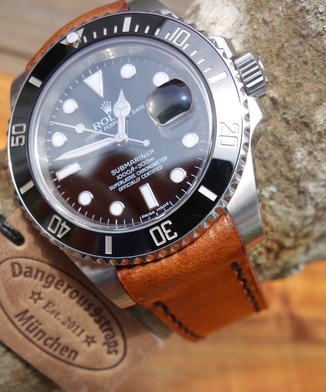 Jonathan's Rolex Sub on 1960's era Swiss Ammo Strap with 'TCLS' fit