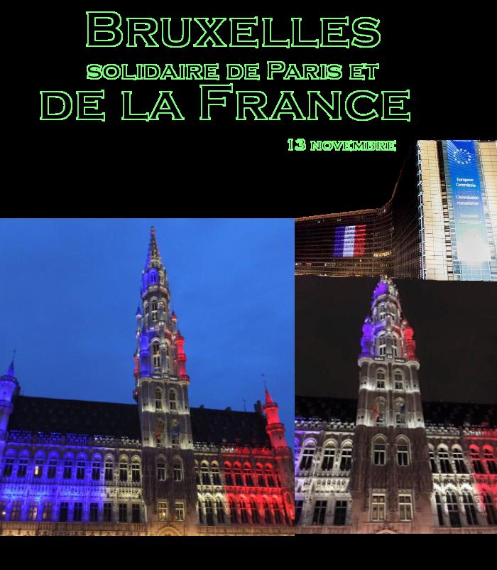 Parijs, België, ,solidair met, Franse, bevolking, brussels,