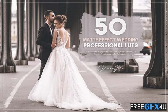 Matte Effect 50 Wedding LUTs Pack