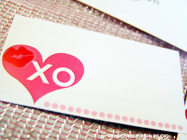 mini love notes for valentines day, XO, valentines day ideas
