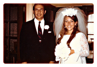 Frank Storti and Elena Vasilev after their June 1970 wedding at the Holy Trinity Cathedral in San Francisco, California