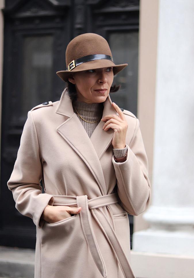 damski kapelusz stylizacje jesień zima