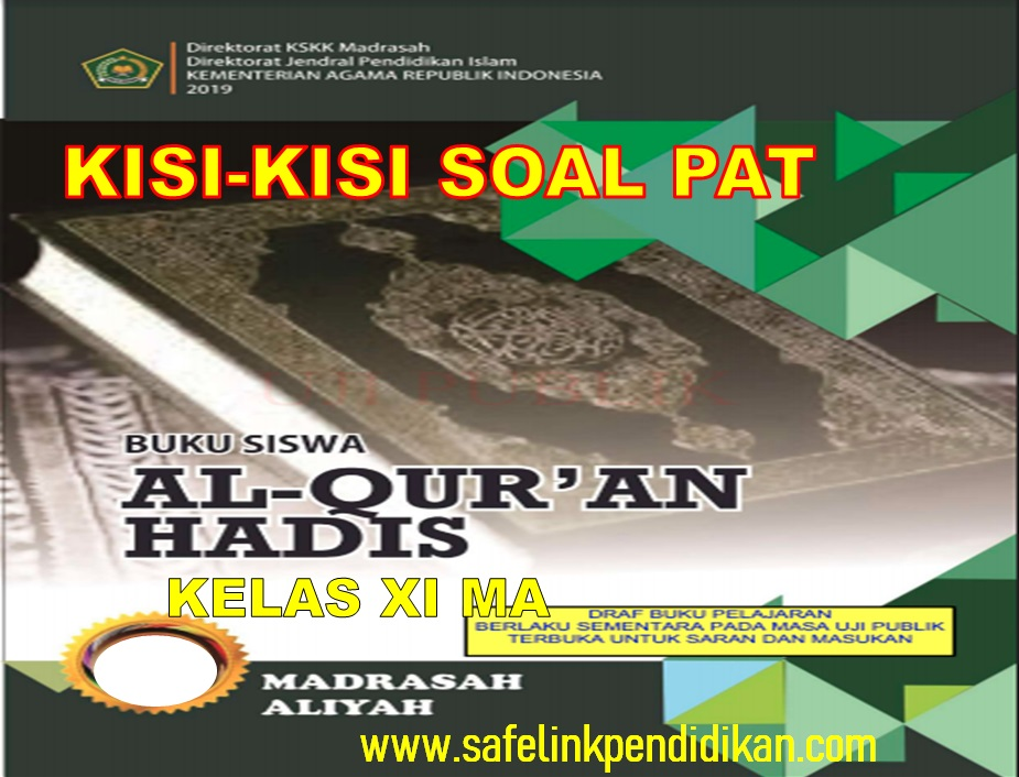 Kisi-kisi Soal PAT Al-Qur'an Hadis Kelas 11