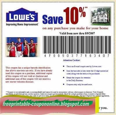 Printable Coupons 2021 Lowes Coupons