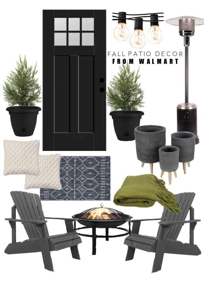 Fall patio decor from walmart