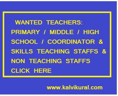 WANTED TEACHERS: PRIMARY / MIDDLE / HIGH SCHOOL / COORDINATOR & SKILLS TEACHING STAFFS & NON TEACHING STAFFS