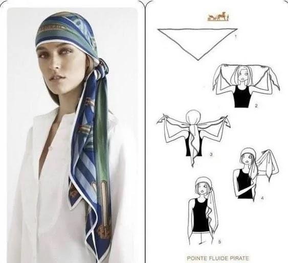 como amarrar lenço estilo pirata