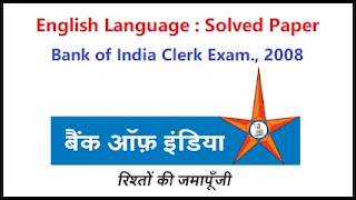 Bank of India Clerk Exam Solved Questions And Answers