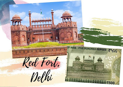 Red Fort, Delhi monument on Rs. 500 doibedouin