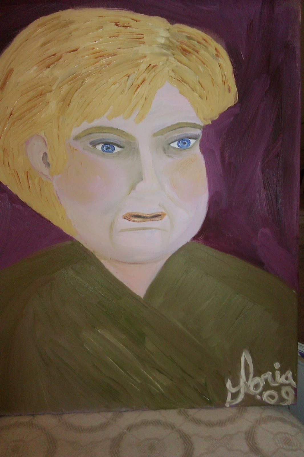 """German Lady"" oil painting by Gloria Poole; year 2009"