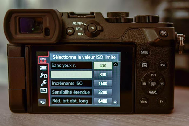 Limite sensibilité ISO d'un appareil photo