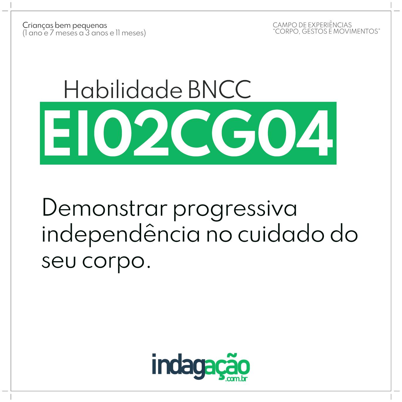 Habilidade EI02CG04 BNCC