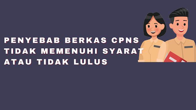 Penyebab Berkas CPNS Tidak Memenuhi Syarat