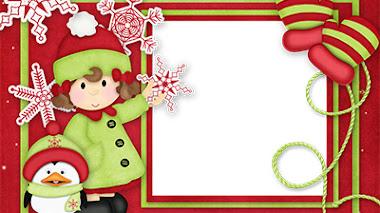 Tarjetas infantiles de navidad 🎅 para imprimir