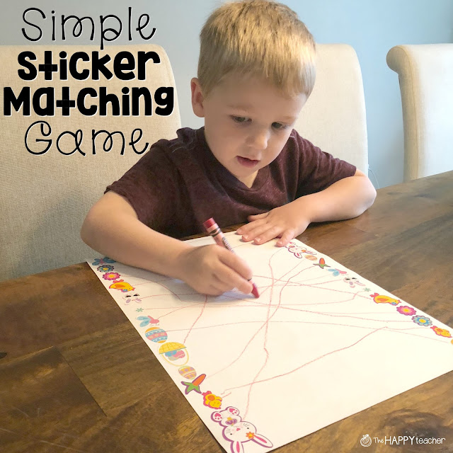 Fun and easy activity for preschoolers and toddlers
