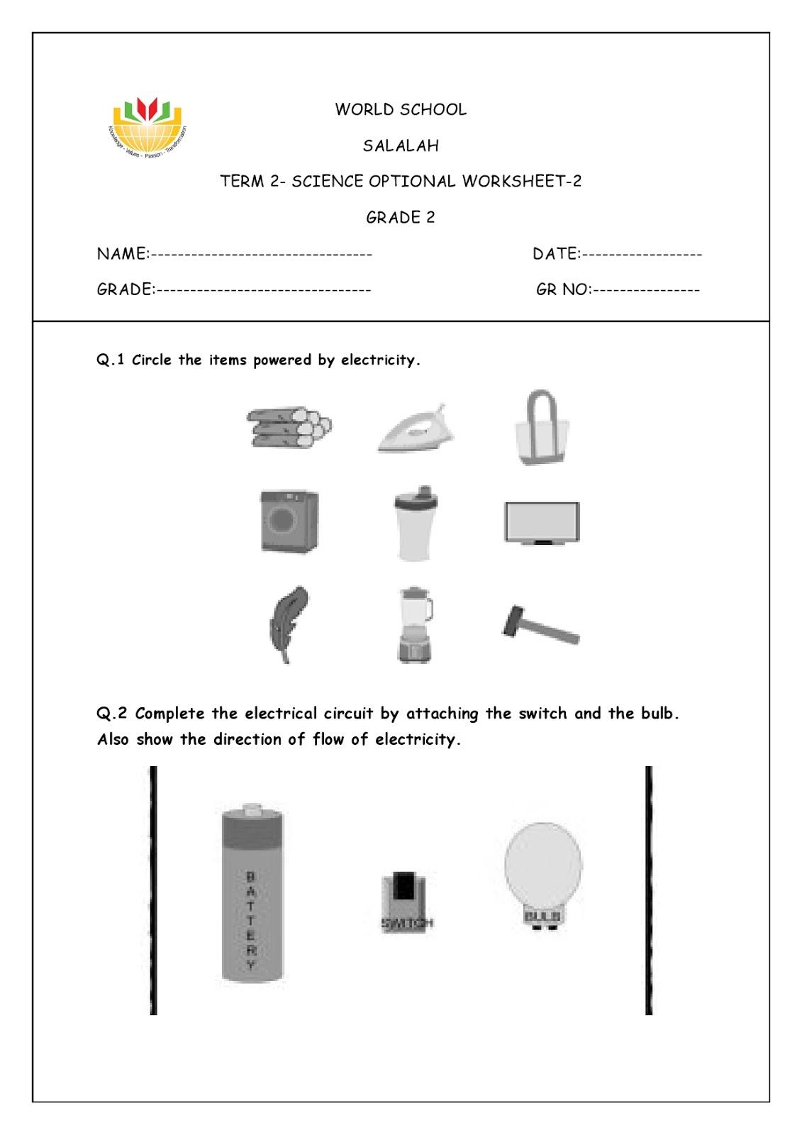 WORLD SCHOOL OMAN: Homework for Grade 2 as on 17/03/2020 [ 1600 x 1131 Pixel ]