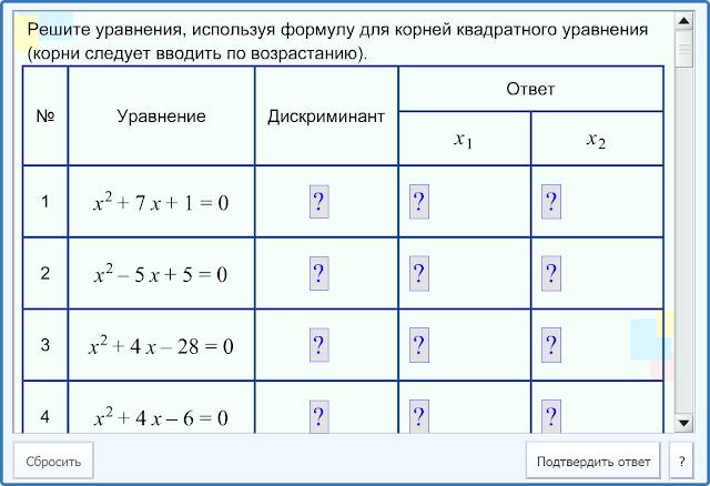 Находим корни квадратного уравнения