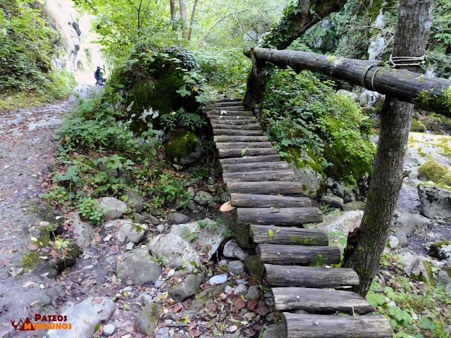 Desfiladero de Los Arrudos: Rústica pasarela