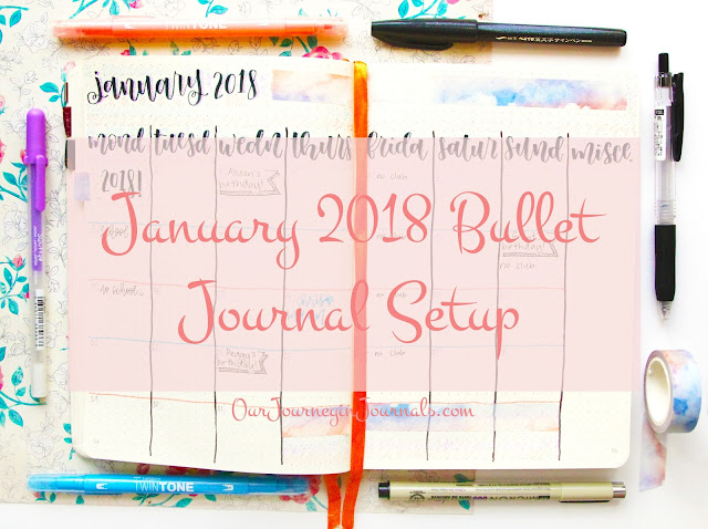 January 2018 Bullet Journal Setup