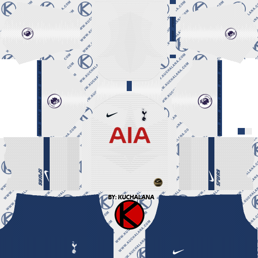 Tottenham Hotspur 2019/2020 Kit - Dream League Soccer Kits - Kuchalana