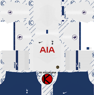 Tottenham Hotspur 2019/2020 Kit - Dream League Soccer Kits