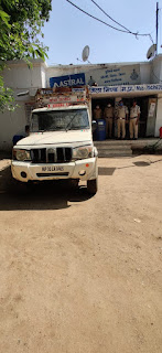 अवैध शराब बनाने वाली ओपी केमिकल के साथ पकड़ी गई गाड़ी
