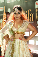 Apoorva Spicy Pics in Cream Deep Neck Choli Ghagra WOW at IIFA Utsavam Awards 2017 117.JPG