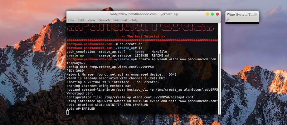 Cara Tethering Wifi Di Kali Linux Dengan create_ap Terbaru