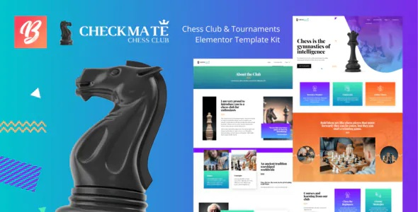 Best Chess Club and Tournaments Elementor Template Kit