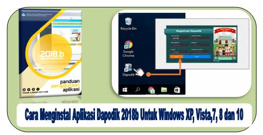 Aplikasi Dapodik 2018b Buat Windows XP, Vista, 7, 8 serta 10
