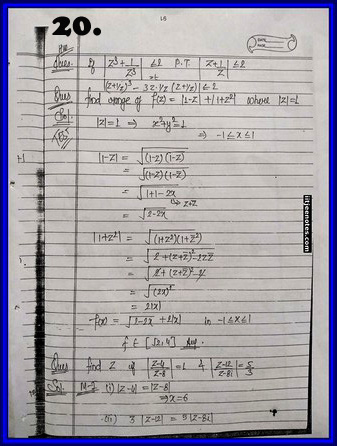 iitjee notes on complex number 20