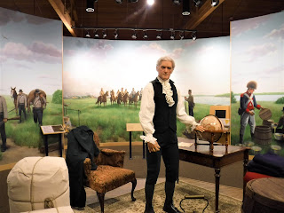 animatronic President Thomas Jefferson ready to discuss the Lewis and Clark Expedition at the Lewis and Clark Interpretive Center in Sioux City, Iowa