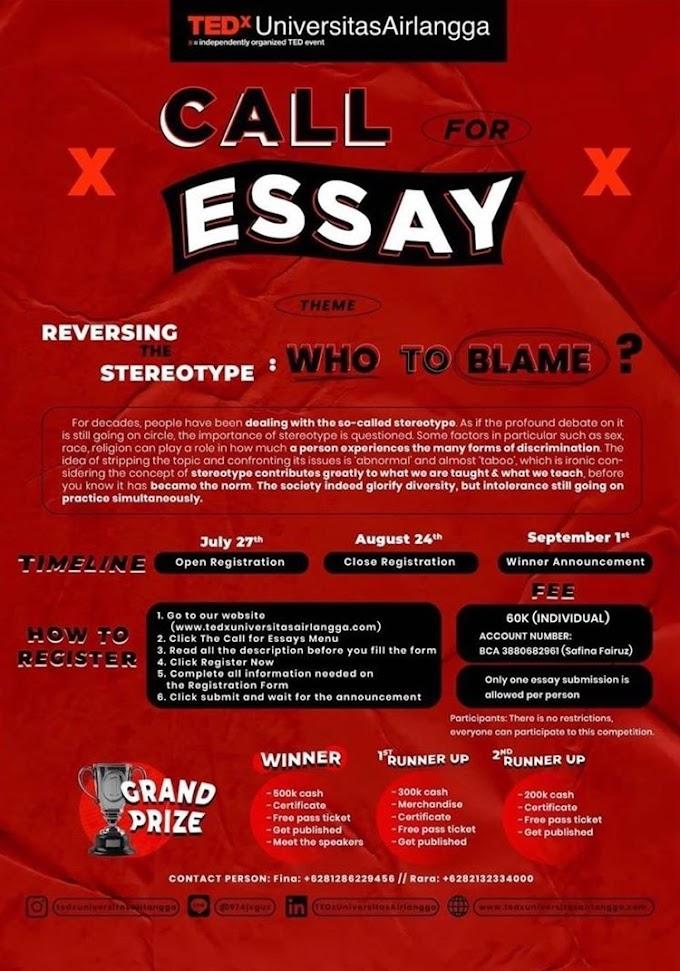 TEDxUniversitasAirlangga Essay Competition