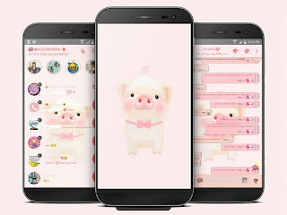 PIG Cute Theme For YOWhatsApp & Fouad WhatsApp By Ale