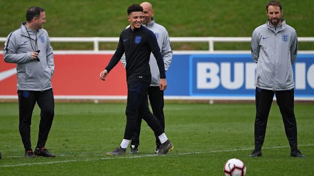 England Gareth Southgate Training Session