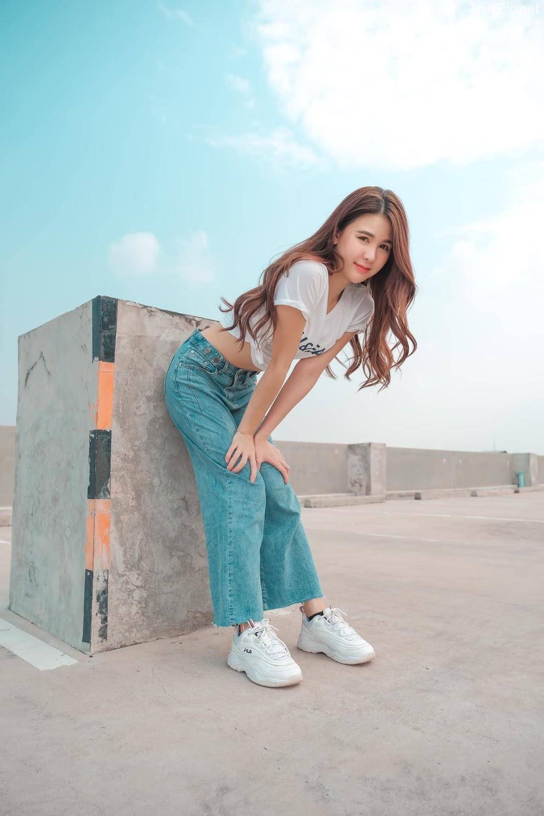 Thailan cute model - Supansa Yoopradit (Lorpor) - The terrace is full of windy afternoon - Picture 7