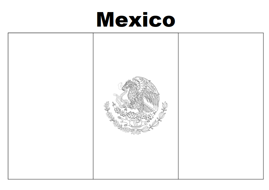 Geography Blog: Mexico Flag Coloring Page