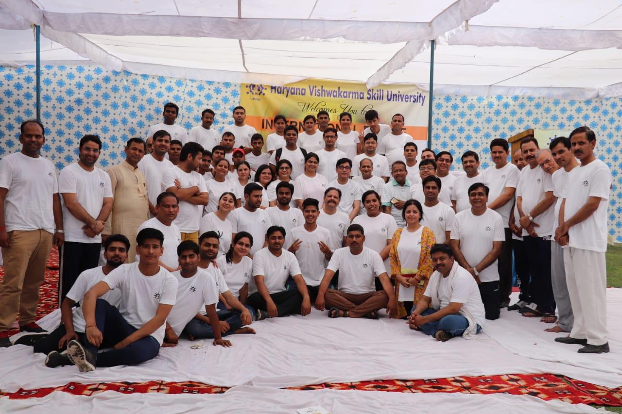 Haryana Vishwakarma Skill University Celebrates International Day of Yoga