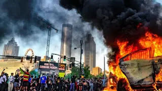 Street demonstration USA