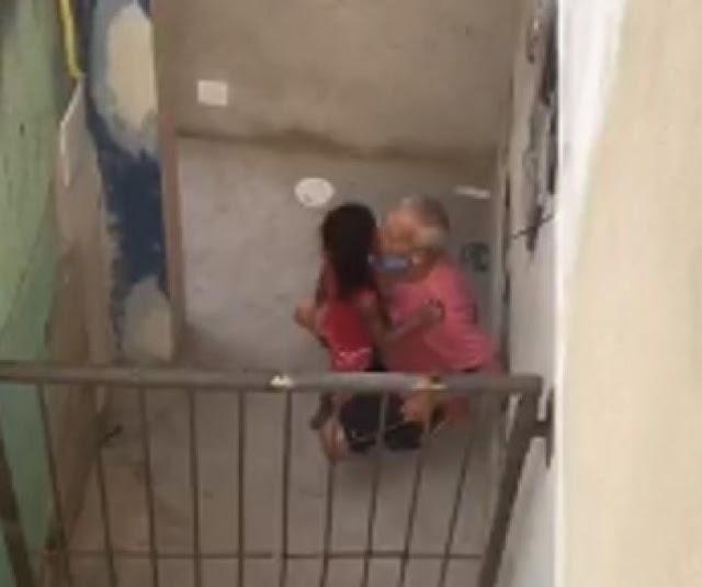 Vídeo chocante:  Idoso é flagrado abusando de criança de 6 anos