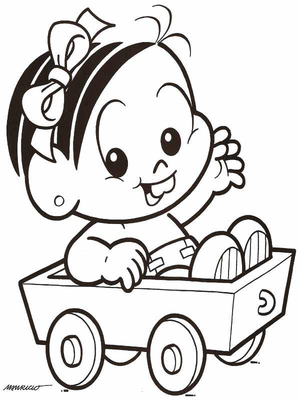 Turma Da Monica Baby Desenhos Preto E Branco Para Colorir