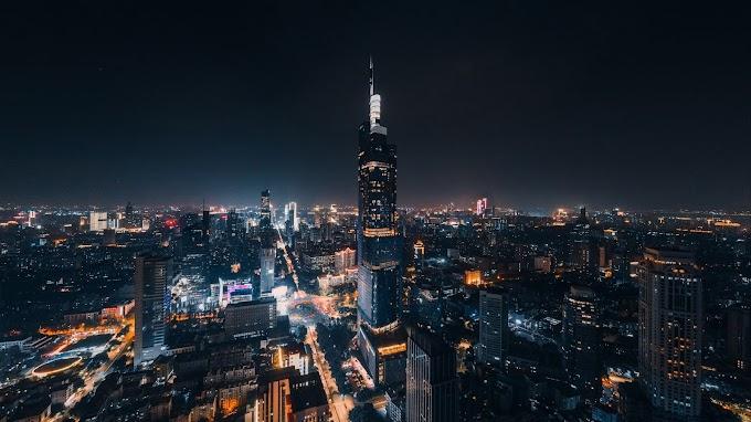 Tela de Fundo Paisagem Cidade Urbana a Noite