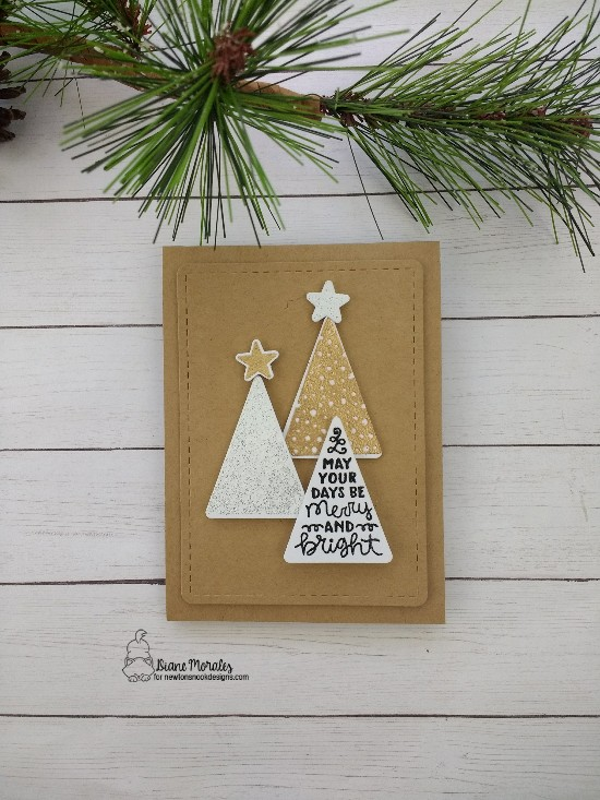 May your days be merry and bright by Diane features Festive Forest and Frames & Flags by Newton's Nook Designs; #newtonsnook