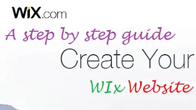 Start a Wix website