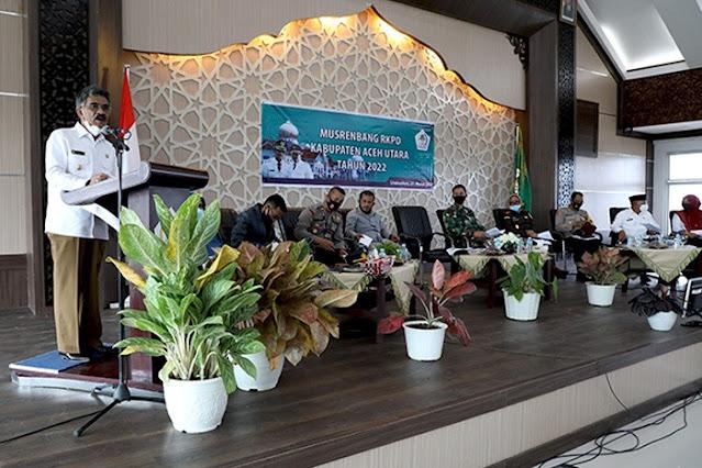 Bupati Aceh Utara Buka Musrenbang RKPD Tahun 2022