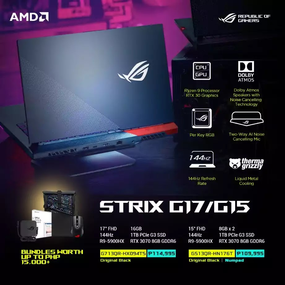 ROG Strix G15 and G17 Price and Specs