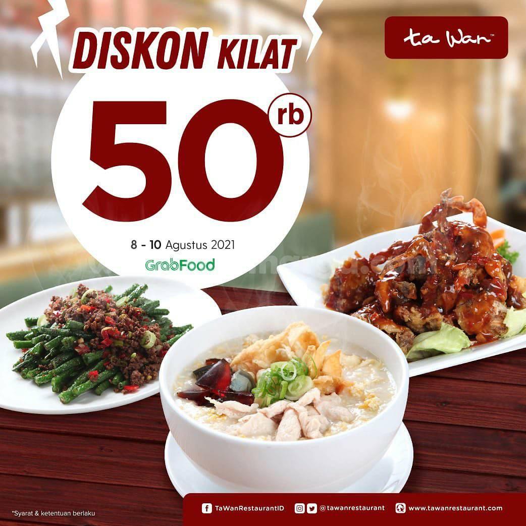 Promo Ta Wan Flash Sale - Diskon Kilat hingga 50Ribu via Grabfood