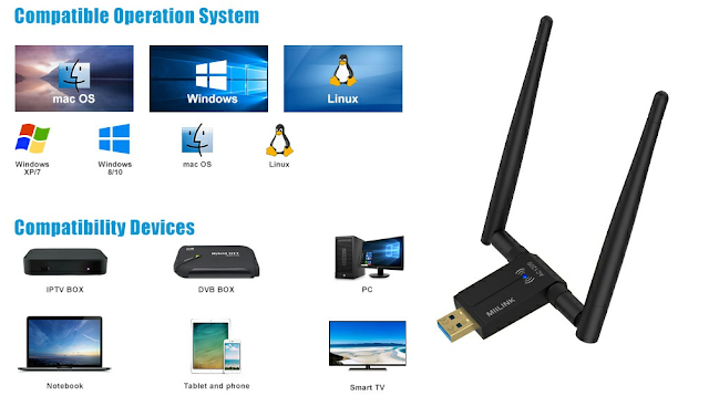 Best Wireless USB WIFI ADAPTER FOR PC SMART TV SMARTPHONES MACBOOK AND TV BOX IN 2020