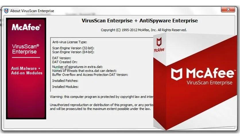 تحميل برنامج McAfee VirusScan Enterprise 8.8 P15 لمكافحة الفيروسات